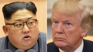 Коллаж Кима и Трампа