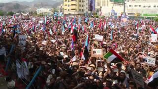 مظاهرات اليمنيين في عدن