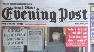 South Wales Evening Post newspaper