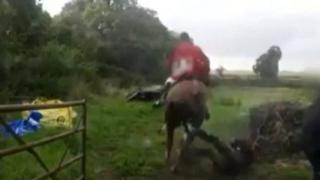 Nicola Rawson as she was being hurt by the horse