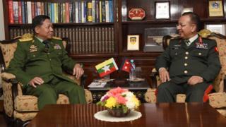 म्यानमार र नेपाली सेनाका प्रमुखहरू
