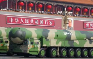 DF-41 en desfile militar en Pekín.
