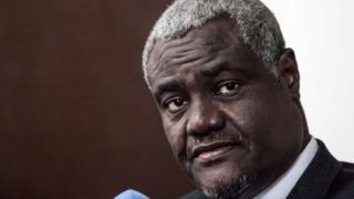 Moussa Faki Mahama, le président de la commission de l'Union africaine