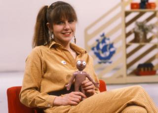 Presenter Sarah Greene seen in 1981