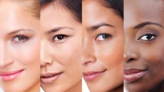 Diferentes biotipos femininos