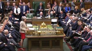 Theresa May addressing MPs