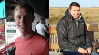 Andrew Thornewell (left) and Timothy Wildbore (right) were killed in the collision
