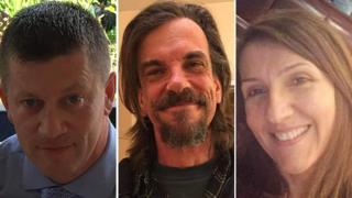 Keith Palmer, Kurt Cochran y Aysha Frade.