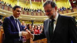 Sánchez e Rajoy