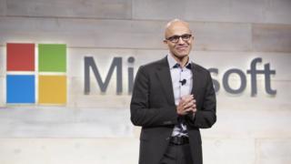 Microsoft's chief executive Satya Nadella