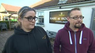 The owners of the Hare and Hounds, Angie and Scott Godfrey