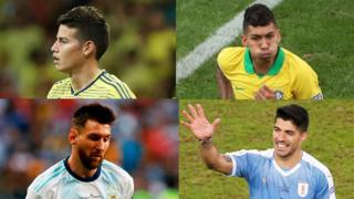 James Rodriguez, Firminho, Messi, Suarez