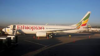 Foto de arquivo de um Boeing 737 da Ethiopian Airlines no Aeroporto Internacional de Bole, em 2017