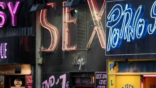Sex shop signs