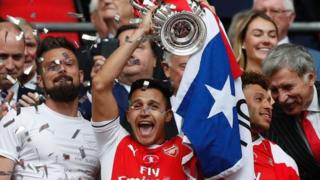 Alexis Sanchez scored the opening goal in Arsenal's 2-1 win over Chelsea in last season's FA Cup final