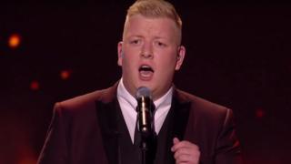Gruffydd Wyn Roberts singing on Britain's Got Talent