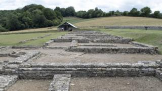 Roman villa at East End, just outside North Leigh, Witney