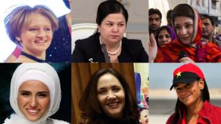 First daughters of Russia, Tajikistan, Pakistan, Angola, Cuba and Turkey (from top left, clockwise)