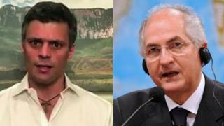 Composite picture of Leopoldo López and Antonio Ledezma