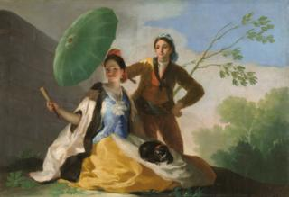 El quitasol (The Parasol) by Francisco de Goya
