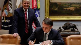 Encontro de Donald Trump, Presidente dos Estados Unidos da América, e Jair Bolsonaro em março de 2019