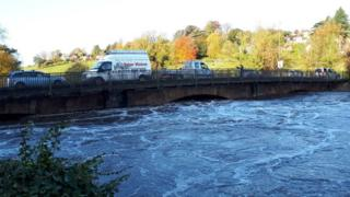River Derwent in Belper, Derbyshire