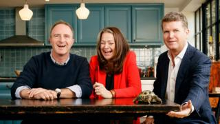 Tortoise founders: Editor James Harding, publisher Katie Vanneck-Smith and chairman Matthew Barzun, the former US Ambassador to Britain (with Agatha the tortoise)