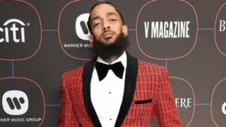 Nipsey Hussle at the Grammy Awards, NoMad Hotel, Los Angeles 7 February 2019