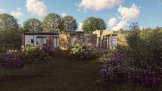 Architects' plans for the holiday home in Scarborough