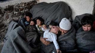 Child migrants on Lesbos, 5 Mar 20