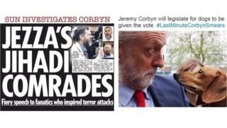 Two headlines - one anti-Corbyn, one pro-Corbyn