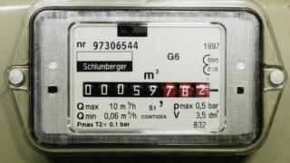 gas meter in cubic metres