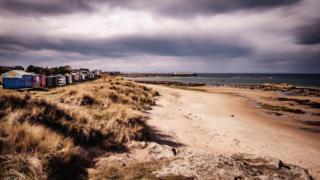 The east beach at Hopeman