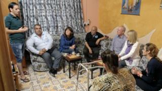 The Bacons meet the Gergis family, who were also left bereaved by the Iraq conflict