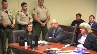 Дэвид и Луиза Турпин в суде