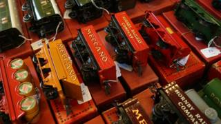 A collection of Hornby trains