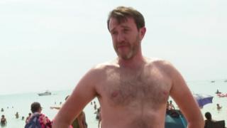 Man on Bournemouth beach