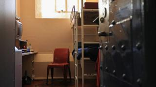 A prison cell at HMP Barlinnie