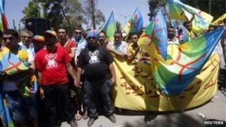 Une manifestation de la communauté berbère libyenne réclamant le respect de ses libertés (photo d'archives).