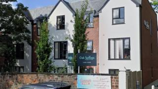 positive people Exterior of Oak Springs care home