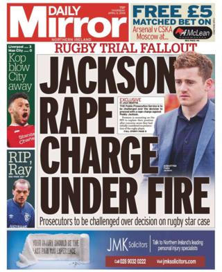 front page of the daily mirror Thursday 5th April 2019