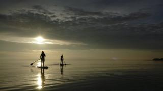 Paddle boarding at Troon
