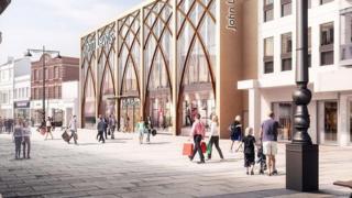 Artist's impression of new John Lewis store