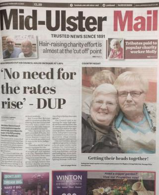 Mid-Ulster Mail front page 14 February 2019