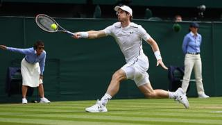 Andy Murray on his way to winning Wimbledon in 2016