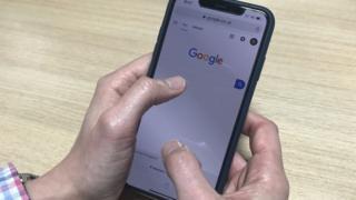 A man using Google