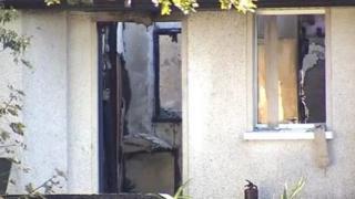 Scene of the blaze at Emyvale Garda Station