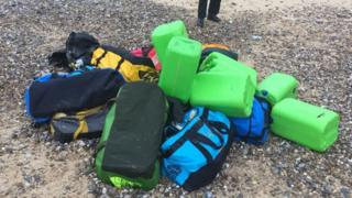 Holdalls containing the drugs