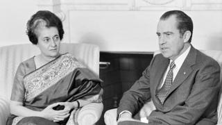 रिचर्ड निक्सन, इंदिरा गांधी