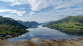 Martin Gray took this photo of Lochgoilhead on Saturday morning.